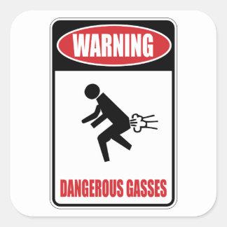 Funny Dangerous Gasses Square Sticker