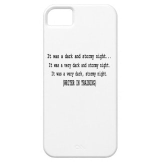 Funny Dark and Stormy Night for Writers Humor iPhone SE/5/5s Case