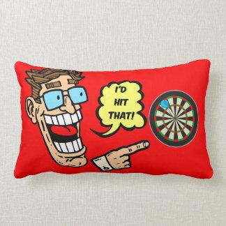 funny darts pillow