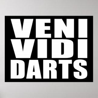 Funny Darts Players Quotes Jokes : Veni Vidi Darts Poster