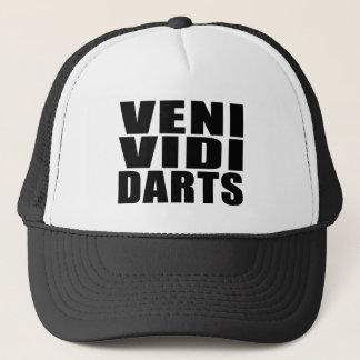 Funny Darts Players Quotes Jokes : Veni Vidi Darts Trucker Hat