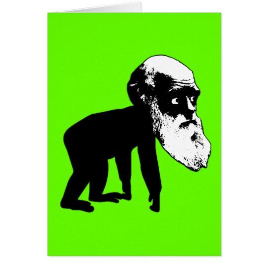 Funny Darwin evolution Card