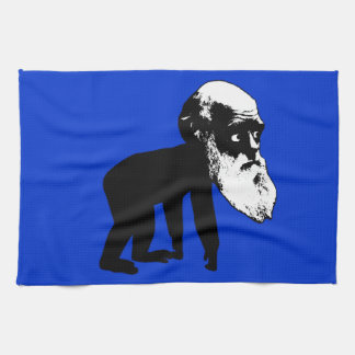 Funny Darwin evolution Hand Towels