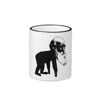 Funny Darwin evolution Ringer Coffee Mug