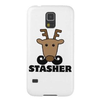 funny dasher stasher mustache reindeer samsung galaxy nexus cover