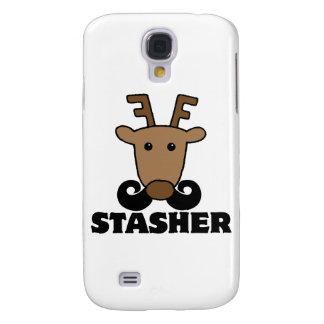 funny dasher stasher mustache reindeer HTC vivid / raider 4G case