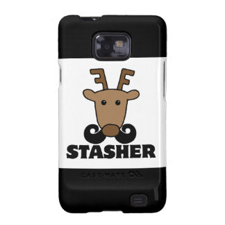 funny dasher stasher mustache reindeer samsung galaxy s2 covers