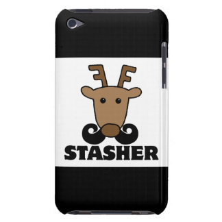 funny dasher stasher mustache reindeer barely there iPod cases