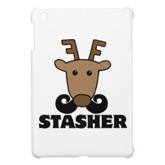funny dasher stasher mustache reindeer iPad mini covers