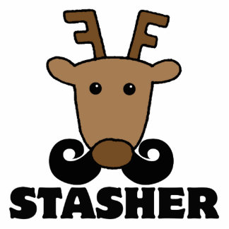 funny dasher stasher mustache reindeer photo cut outs