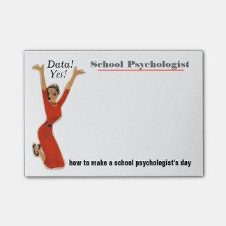 Funny Data Driven School Psychologist Sticky Notes
