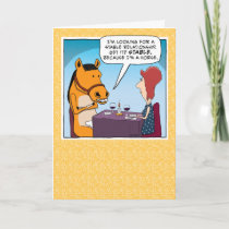 Funny Date With a Horse Birthday Card