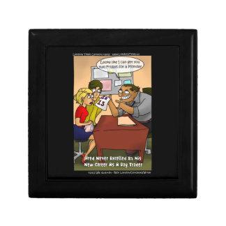 Funny Day Trader Cartoon Premium Keepsake Box by R