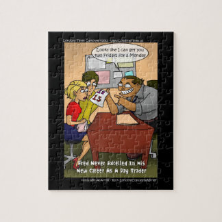 Funny Day Trader Jigsaw Puzzle by Rick London