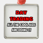 Funny Day Trader Shirts and Gifts Christmas Tree Ornament