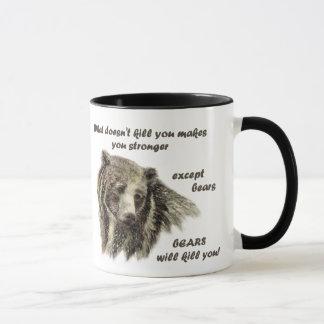 Funny De Motivational Quote Bears kill you Mug