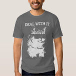 Funny Deal with it Cat wearing sunglasses t-shirt