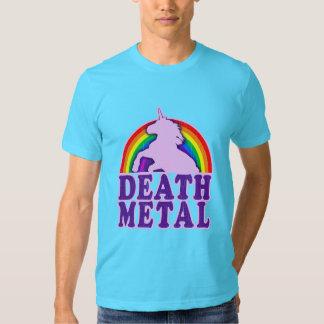 Funny Death Metal Unicorn Rainbow (vintage look) Shirts
