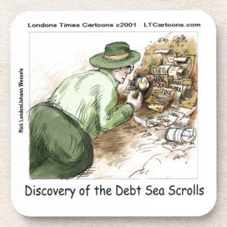 Funny Debt Sea Scrolls Beverage Coaster