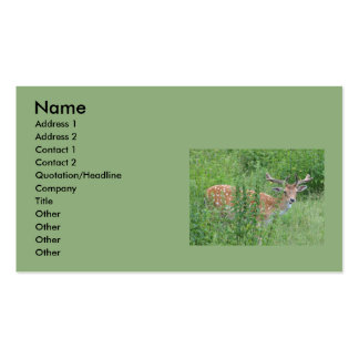 Funny deer business card