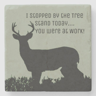 Funny Deer Hunting Bar Stone Coasters