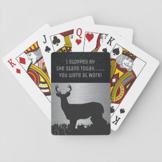 Funny Deer Hunting Buck Playing Cards