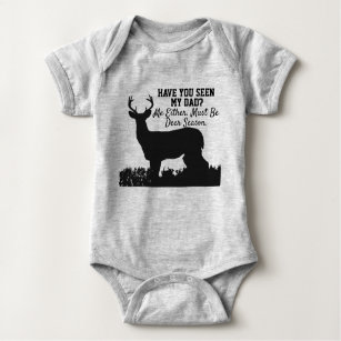 Baby Shirt with Deer Hunting Buddy Bodysuit. Woodland Bodysuit Deer Bodysuit Deer Onesie Hunting Onesie Deer Shirt