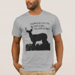 Funny Deer Hunting Tree Stand Shirt at Zazzle