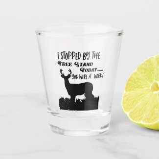 Funny Deer Hunting Whitetail Buck Sports Quote Shot Glass