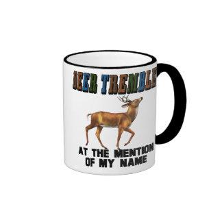 Funny Deer Tremble Ringer Coffee Mug