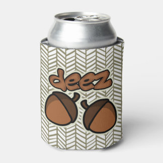 Funny Deez Nuts with herringbone Can Cooler