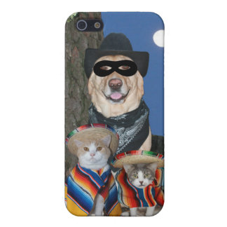 Funny Defender Lab with Kitties Cover For iPhone SE/5/5s