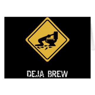 Funny Deja-Brew Card