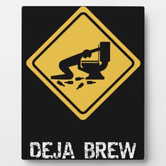 Funny Deja-Brew Photo Plaque