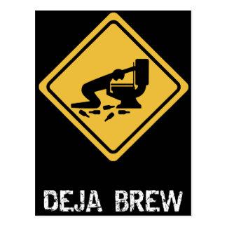 Funny Deja-Brew Postcard