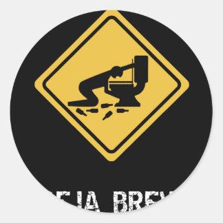 Funny Deja-Brew Classic Round Sticker