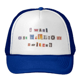 Funny Demand For Money Ransom Note Collage Trucker Hat