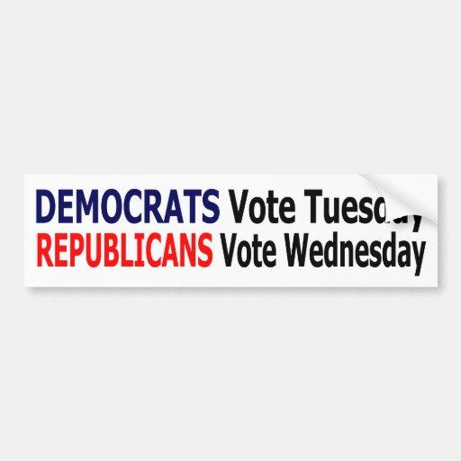 Funny Democrat Bumper Sticker