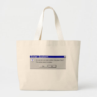 Funny Demoted Pluto Design Tote Bags