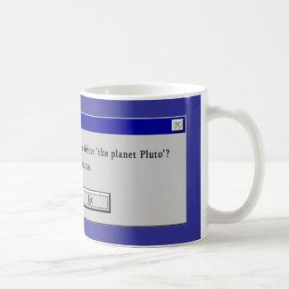 Funny Demoted Pluto Design Coffee Mug