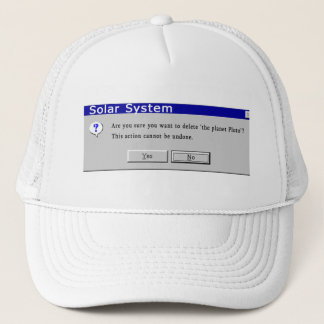 Funny Demoted Pluto Design Trucker Hat