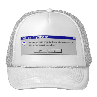 Funny Demoted Pluto Design Trucker Hat