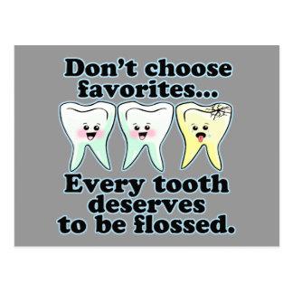 Funny Dental Humor Postcard