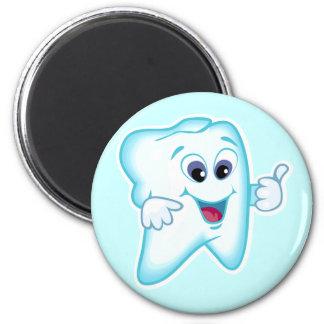 Funny Dental Hygienist 2 Inch Round Magnet