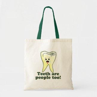 Funny Dental Hygienist Canvas Bags