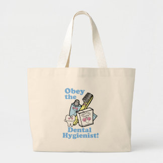 Funny Dental Hygienist Tote Bags