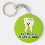 Funny Dental Hygienist Basic Round Button Keychain