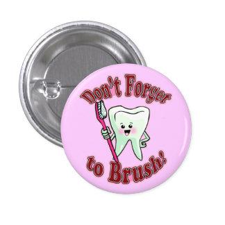 Funny Dental Hygienist Button