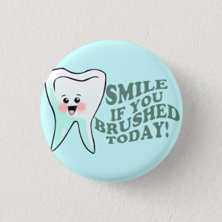 Funny Dental Hygienist Button
