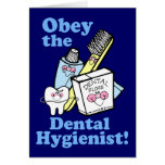 Funny Dental Hygienist Greeting Cards